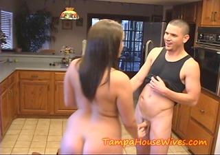 Hot Milf Housewife fucks the PLUMMER