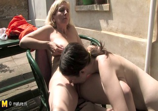 young hairy lesbian daughter fucks a older wet