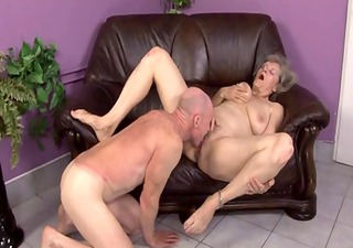 granny gets caught toying twat