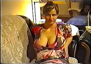 wife flashing large tits in a brassiere
